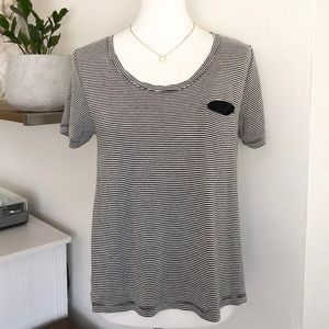 UO Mouchette relaxed-fit pocket tee